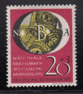 Germany 1951 MH Sc B319 Mi 142 20pf + 3pf Stamps Under Magnifying Glass Variety - [7] République Fédérale