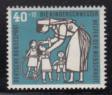 Germany 1956 MNH Sc B353 Mi 246 40pf + 10pf Children's Nurse - Neufs