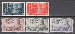 1949 - 1951 Edifil Nº 275, 276, 306 / 308 /*/ - Guinea Española