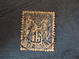 """1876-  Sage II  - Timbre Oblitéré N° 90    -  """"  Petit Cachet à Date """"     2 Euros       Photo  12 - 1876-1898 Sage (Type II)"""