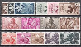 1952 - 1953 LOTE DE SERIES COMPLETAS.   /*/ - Guinea Española