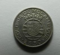 Portugal Moçambique 2 1/2 Escudos 1950 Silver - Portugal