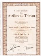 Titre Ancien - Société Anonyme Des Ateliers Du Thiriau - Titre De 1970 - Industrie