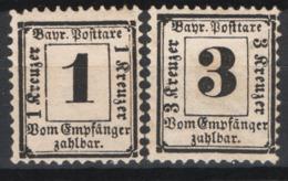 Germania Baviera 1870 Segnatasse Unif.2/3 */MH VF/F - Bavaria