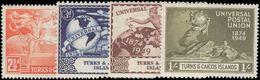 Turks & Caicos Islands 1949 UPU Unmounted Mint. - Turks And Caicos