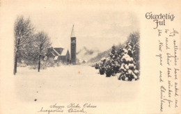 R150214 Gloedelig Jul. Ansgar Kirke. Odense - Cartes Postales