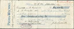 JUDAICA Memel 1932 Wechsel Jüdische Volksbank Jewish Bank Bill Of Exchange Promissory Note Lettre De Change Revenue Tax - Lettres De Change