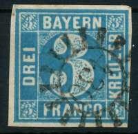 BAYERN QUADRATE Nr 2II GMR 430 P5 Zentrisch Gestempelt X88259E - Bavaria
