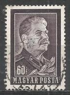 Hungary 1953. Scott #1034 (U) Joseph Stalin (1879-1953) * - Oblitérés