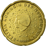 Pays-Bas, 20 Euro Cent, 2000, TTB, Laiton, KM:238 - Pays-Bas