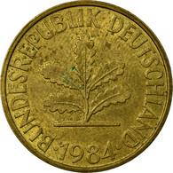 Monnaie, République Fédérale Allemande, 10 Pfennig, 1984, Munich, TB+, Brass - 10 Pfennig