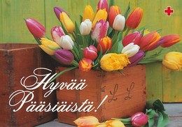 Postal Stationery - Easter Flowers - Tulips In A Box - Red Cross 2001 - Suomi Finland - Postage Paid - Finlande