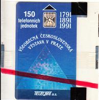 CZECHOSLOVAKIA - Vystava V Praze, Telecart A.s. Second Issue 150 Units, Chip SC5, CN : 33138, Tirage %10000, 11/91, Mint - Tchécoslovaquie