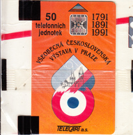 CZECHOSLOVAKIA - Vystava V Praze, Telecart A.s. Second Issue 50 Units, Chip SC5, CN : 33107, Tirage %20000, 11/91, Mint - Tchécoslovaquie