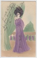 C1900s LINA CAVALIERI OPERA Star HAT And LONG DRESS EMBOSSED GAUFREE PC CPA - Artistes