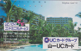 Télécarte Japon / 110-117617 - HAWAII - KAANAPALI - UC BANK CREDIT CARD / Modèle 1 - Japan Phonecard - Site USA 459 - Stamps & Coins
