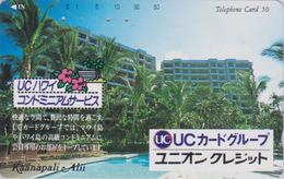 Télécarte Japon / 110-117617 - HAWAII - KAANAPALI - UC BANK CREDIT CARD / Modèle 2 - Japan Phonecard - Site USA 460 - Stamps & Coins