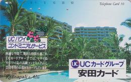 Télécarte Japon / 110-117617 - HAWAII - KAANAPALI - UC BANK CREDIT CARD / Modèle 3 - Japan Phonecard - Site USA 461 - Stamps & Coins