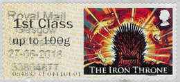 GB 2018 Game Of Thrones Post And Go 1st Class Issue Code 054832 Used [32/191/ND] - Great Britain