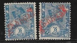 Ethiopia Scott # J5 Mint Hinged Two Types Postage Due, 1896 - Ethiopia