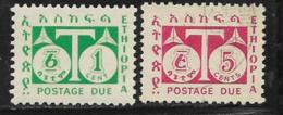Ethiopia Scott # J57 Mint Hinged, J58 Used Postage Due, 1951 - Ethiopia