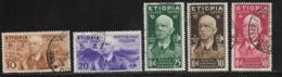 Ethiopia Scott # N1-5 Used Victor Emmanuel Lll Occupation Stamps, 1936 - Ethiopia