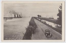 EGYPT SUEZ CHANNEL PHOTOMONTAGE CAR, SHIP, TRAIN Old PC CPA 1920s - Suez