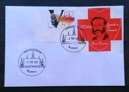 ESPAÑA 2017. TARIFA A Y VIÑETA CRUZ ROJA CON MATASELLO TURÍSTICO. - 1931-Hoy: 2ª República - ... Juan Carlos I