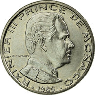 Monnaie, Monaco, Rainier III, Franc, 1986, SUP, Nickel, KM:140 - Monaco