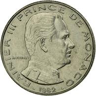 Monnaie, Monaco, Rainier III, 1/2 Franc, 1982, TTB+, Nickel, KM:145 - 1960-2001 Nouveaux Francs