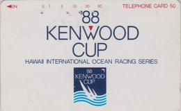 Télécarte Japon / 110-011 - HAWAII - KENWOOD CUP - BATEAU VOILIER - Sailing SHIP Japan Sport Phonecard - Site USA 466 - Bateaux