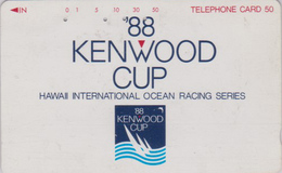 Télécarte Japon / 110-011 - HAWAII - KENWOOD CUP - BATEAU VOILIER - Sailing SHIP Japan Sport Phonecard - Site USA 466 - Boats