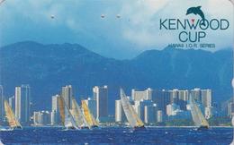 Télécarte Japon / 110-011 - HAWAII - KENWOOD CUP - BATEAU VOILIER - Sailing SHIP Japan Sport Phonecard - Site USA 467 - Bateaux