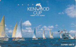 Télécarte Japon / 110-011 - HAWAII - KENWOOD CUP - BATEAU VOILIER - Sailing SHIP Japan Sport Phonecard - Site USA 468 - Bateaux