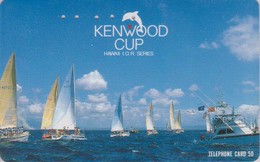Télécarte Japon / 110-011 - HAWAII - KENWOOD CUP - BATEAU VOILIER - Sailing SHIP Japan Sport Phonecard - Site USA 468 - Boats