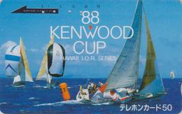 Télécarte Japon / 110-011 - HAWAII - KENWOOD CUP - BATEAU VOILIER - Sailing SHIP Japan Sport Phonecard - Site USA 469 - Bateaux