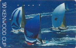 Télécarte Japon / 110-011 - HAWAII - KENWOOD CUP - BATEAU VOILIER - Sailing SHIP Japan Sport Phonecard - Site USA 470 - Bateaux