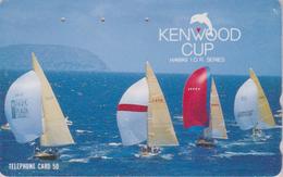 Télécarte Japon / 110-011 - HAWAII - KENWOOD CUP - BATEAU VOILIER - Sailing SHIP Japan Sport Phonecard - Site USA 471 - Bateaux