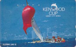 Télécarte Japon / 110-011 - HAWAII - KENWOOD CUP - BATEAU VOILIER - Sailing SHIP Japan Sport Phonecard - Site USA 472 - Bateaux