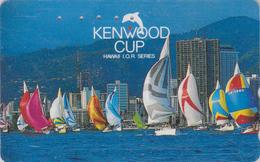 Télécarte Japon / 110-011 - HAWAII - KENWOOD CUP - BATEAU VOILIER - Sailing SHIP Japan Sport Phonecard - Site USA 473 - Boats