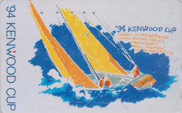 Télécarte Japon / 110-011 - HAWAII - KENWOOD CUP - BATEAU VOILIER - Sailing SHIP Japan Sport Phonecard - Site USA 474 - Boats