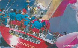 Télécarte Japon / 110-011 - HAWAII - KENWOOD CUP - BATEAU VOILIER - Sailing SHIP Japan Sport Phonecard - Site USA 478 - Boats