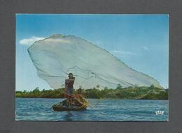HAITI - ANTILLES - PÊCHE À L'ÉPERVIER - CAST NET FISHING - PAR MESSAGERIE DE PRESSE - Haïti