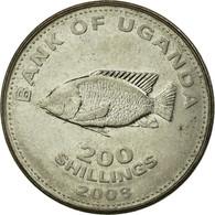Monnaie, Uganda, 200 Shillings, 2008, TB+, Nickel Plated Steel, KM:68a - Uganda