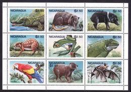 NICARAGUA 1995 , WILD ANIMALS , MNH - Nicaragua