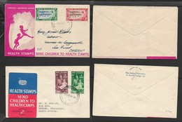 New Zealand, Health, 1949 & 1950 First Day Covers - FDC