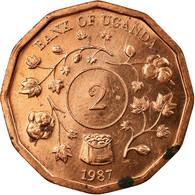 Monnaie, Uganda, 2 Shillings, 1987, TB+, Copper Plated Steel, KM:28 - Uganda