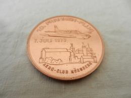 Médaille De Table Cuivre- Aéro Club Nünberg 7 Juli 1973 - Allemagne