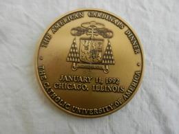 Médaille The Catholic University Of America - The American Cardinals Dinner 1992 - Etats-Unis