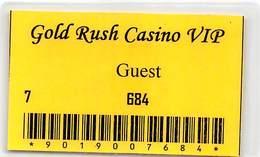 Gold Rush Casino Butte, MT - Guest Paper Card   ....[RSC]..... - Casino Cards